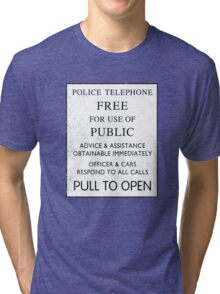 Police Telephone - Free For Public Use Tri-blend T-Shirt