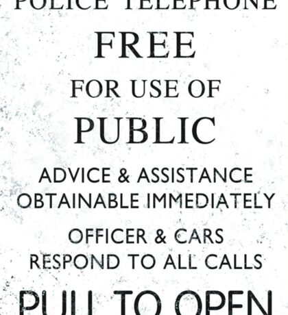 Police Telephone - Free For Public Use Sticker
