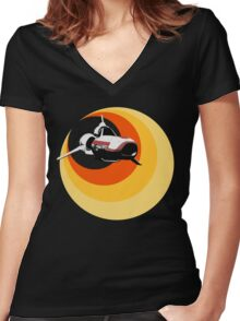 Turbo Boost Women's Fitted V-Neck T-Shirt