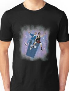 Doctor Who - Bill & Ted Ride The Tardis T-shirts Unisex T-Shirt