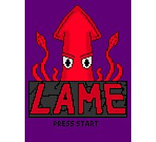 LAME Squid Pixel Art Photographic Print