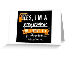 Yes I'm a Progeammer - Programming Greeting Card