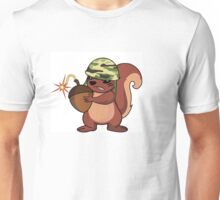 squirrel soldier with acorn bomb Unisex T-Shirt