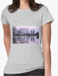 reflections on the lake Womens Fitted T-Shirt