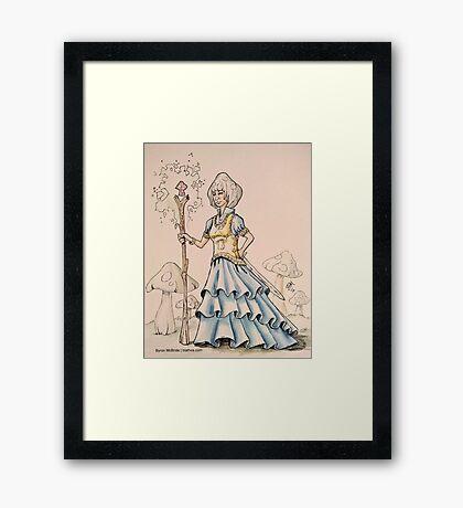 The Mushroom Queen Framed Print
