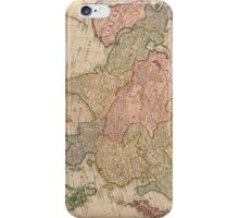 Vintage Map of Asia (1799)  iPhone Case/Skin