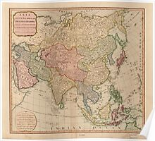 Vintage Map of Asia (1799)  Poster