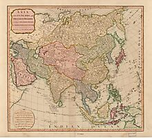 Vintage Map of Asia (1799)  Photographic Print
