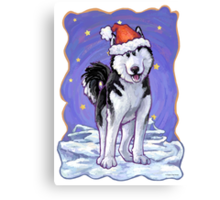 Husky Christmas Canvas Print