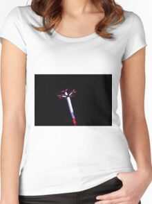 lights at the carnival Women's Fitted Scoop T-Shirt