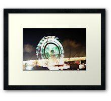 lights at the carnival Framed Print