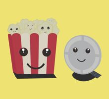 Cinema movie pocorn with faces One Piece - Short Sleeve