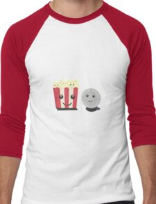 Cinema movie pocorn with faces Men's Baseball ¾ T-Shirt