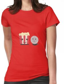 Cinema movie pocorn with faces Womens Fitted T-Shirt