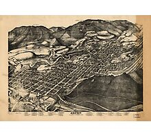 Vintage Pictorial Map of Aspen Colorado (1893) Photographic Print
