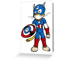 Chatptain Americhat Greeting Card