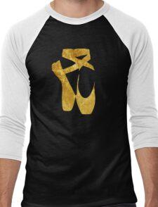 Ballet Shoes (gold) Men's Baseball ¾ T-Shirt