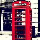 Red British Telephone Booth in London by Jonicool