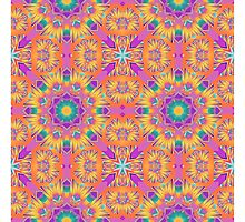 Cute colourful kaleidoscope pattern by walstraasart