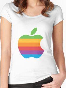 Macintosh Logo Women's Fitted Scoop T-Shirt