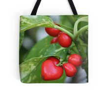 red berries in the shape of heart Tote Bag