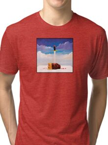 kanye west beautiful dark twisted fantasy head Tri-blend T-Shirt