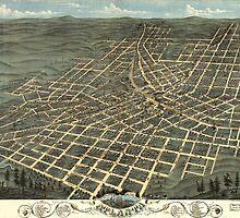 Vintage Pictorial Map of Atlanta (1871) by BravuraMedia