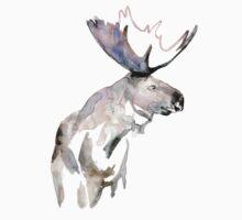 Moose Zen watercolor White Kids Clothes