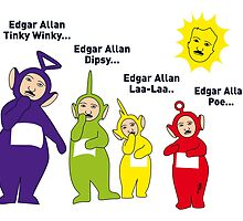 Teletubbies Edgar Allan Poe 2 by mjfouldes