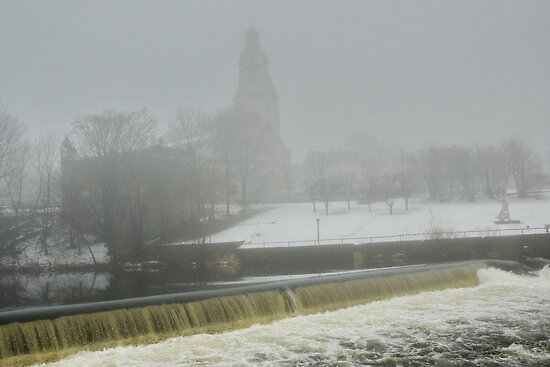 Slater Mill Dam in Winter by Barry Doherty