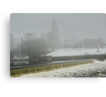 Slater Mill Dam in Winter Canvas Print