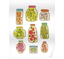 Autumn pickled vegetables Poster