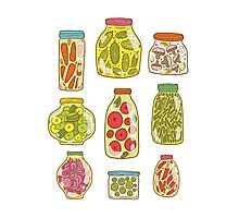 Autumn pickled vegetables Photographic Print