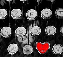 like on old typewriter by spetenfia