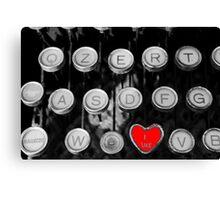 like on old typewriter Canvas Print