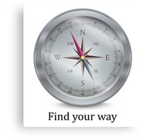 Compass. Find your way Canvas Print