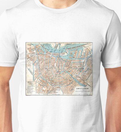 Vintage Map of Amsterdam (1905) Unisex T-Shirt
