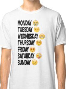 EMOJI DAYS OF THE WEEK Classic T-Shirt