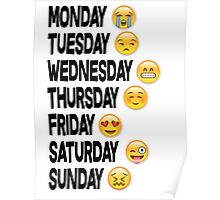 EMOJI DAYS OF THE WEEK Poster