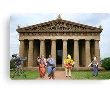 Cut….CUT!!! You're auditioning for the part of PLATO!!!!! Canvas Print