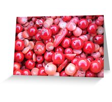 red stones Greeting Card