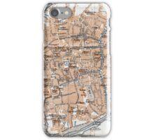 Vintage Map of Bruges (1905)  iPhone Case/Skin