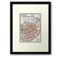 Vintage Map of Bruges (1905)  Framed Print