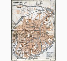 Vintage Map of Bruges (1905)  Unisex T-Shirt