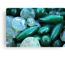 green stones Canvas Print