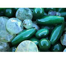 green stones Photographic Print
