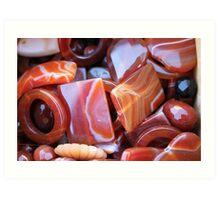 brown stones Art Print