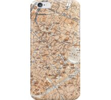 Vintage Map of Brussels (1905) iPhone Case/Skin