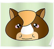 Cute horse - Farm animals collection Poster
