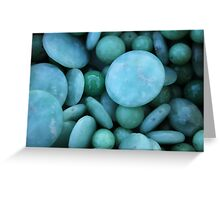 green stones Greeting Card